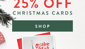 Get Christmas Cards 25% Off Through Today Only!